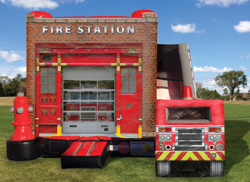 Inflatable Fire Station Combo Clowns4kids