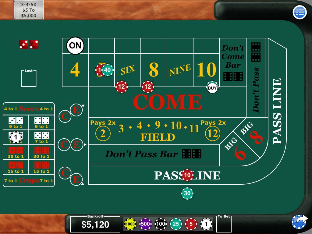 Electronic craps machine for sale