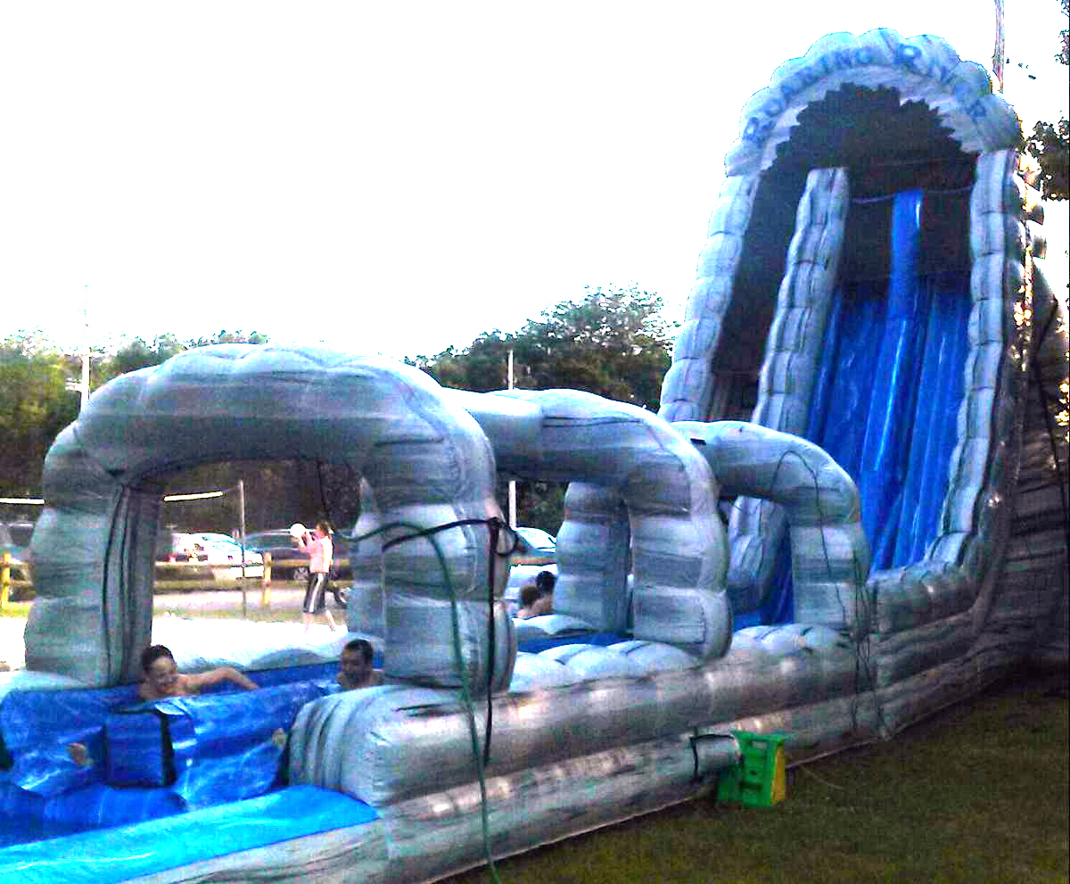roaring river water slide clowns4kids